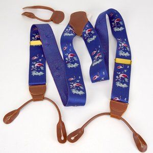 Dooney & Bourke Suspenders Flamingos Blue
